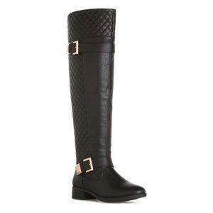Black Rafaella Knee-High Boots